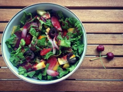 Sweet cherry Vinaigrette Salad
